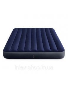 Фото Надувной матрас Intex Classic Downy Airbed, 152х203х25 см (64759) синий